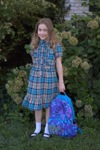 Megan's First day of School